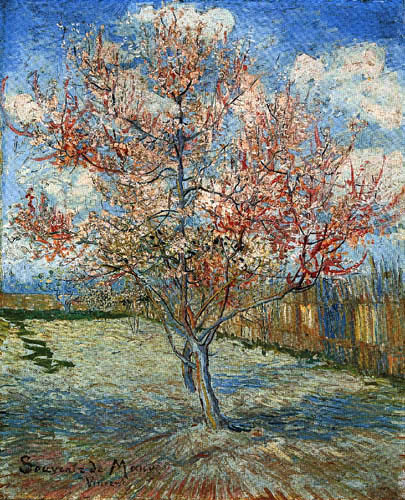 Vincent van Gogh - Flowering peach tree