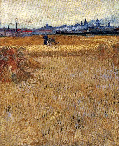Vincent van Gogh - Weizenfeld vor Arles