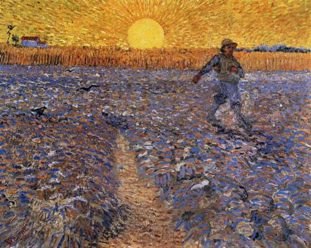 Vincent van Gogh - Sämann bei untergehender Sonne