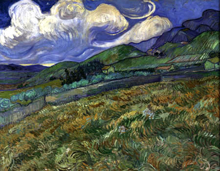 Vincent van Gogh - Berglandschaft hinter dem Hospital Saint-Paul