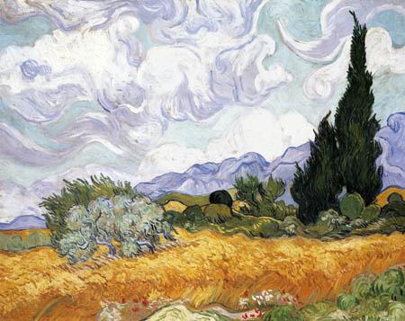 Vincent van Gogh - A Cornfield with Cypresses