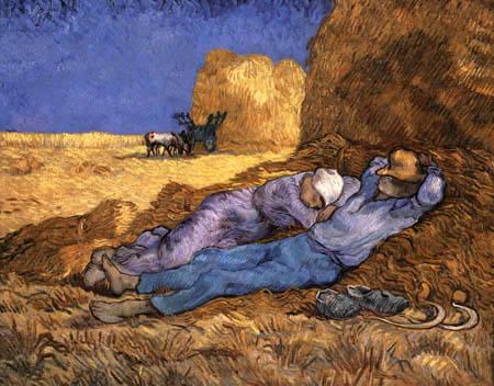 Vincent van Gogh - Lunch break (after Millet)