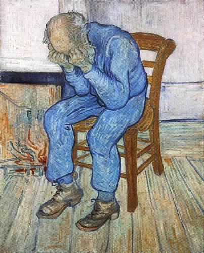 Vincent van Gogh - Trauriger alter Mann