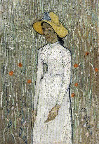 Vincent van Gogh - Mädchen im Kornfeld