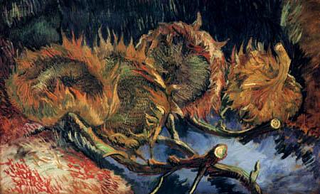 Vincent van Gogh - Vier geschnittene Sonnenblumen
