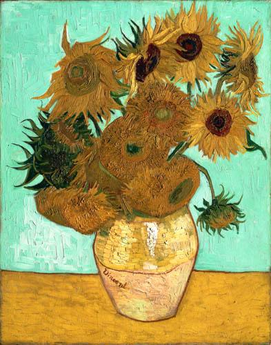 Vincent van Gogh - Twelve sunflowers in a vase