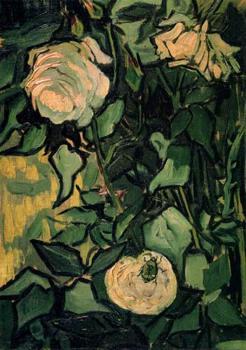 Vincent van Gogh - Wilde Rosen mit einem Käfer