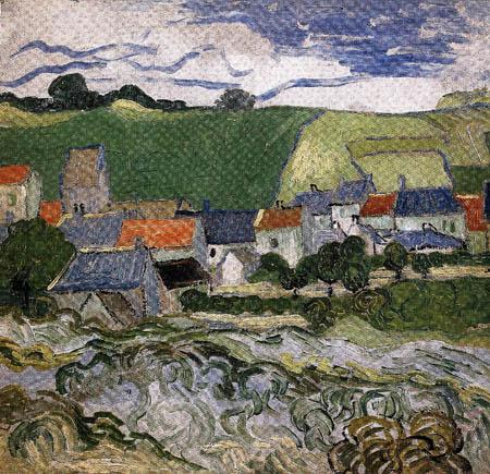 Vincent van Gogh - Blick auf Auvers