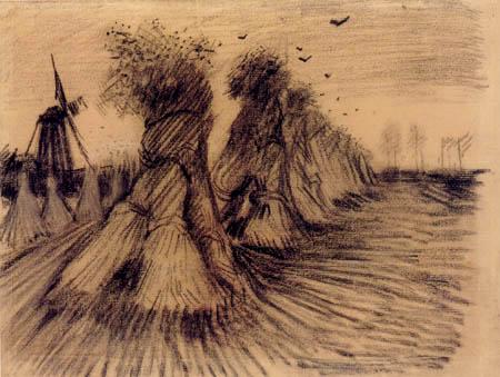 Vincent van Gogh - Weizengarben mit Krähen