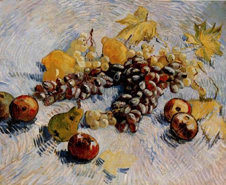 Vincent van Gogh - Stillleben mit Trauben, Äpfeln und Zitronen