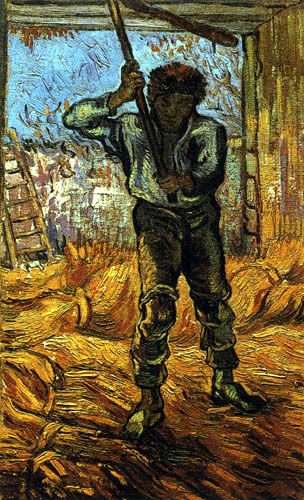 Vincent van Gogh - The thresher