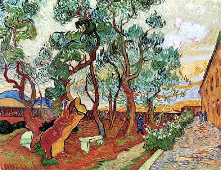 Vincent van Gogh - Garten von Saint-Rémy mit abgesägter Pinie
