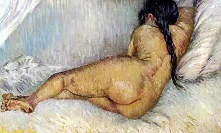Vincent van Gogh - Liegender weiblicher Akt