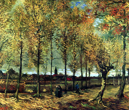 Vincent van Gogh - Pappelallee bei Nuenen
