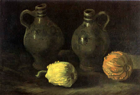 Vincent van Gogh - Still life with two jugs and pumpkins
