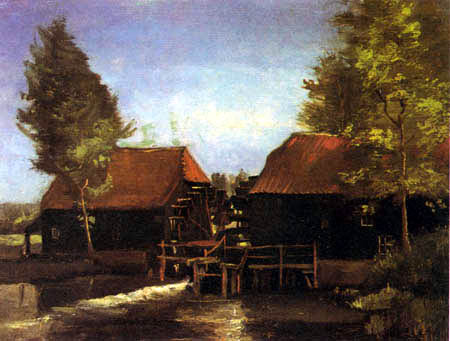 Vincent van Gogh - Watermill in Holmenkollen at Nuenen