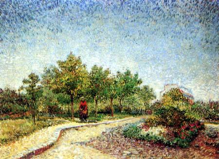 Vincent van Gogh -  A Walk in the Park Voyer d'Argenson in Asnières