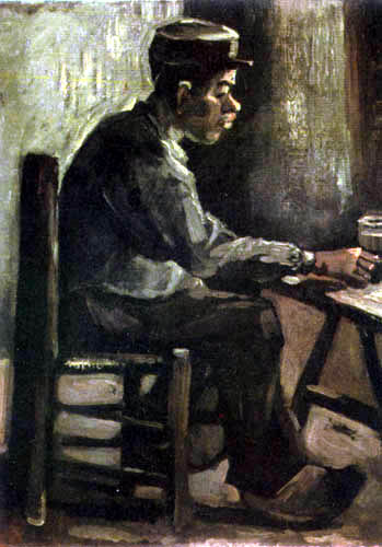 Vincent van Gogh - A farmer sitting at the table