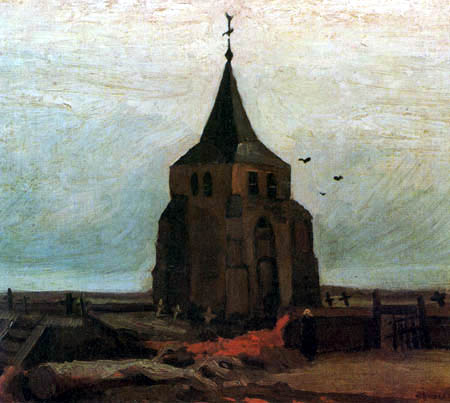Vincent van Gogh - The old cemetery tower in Nuenen