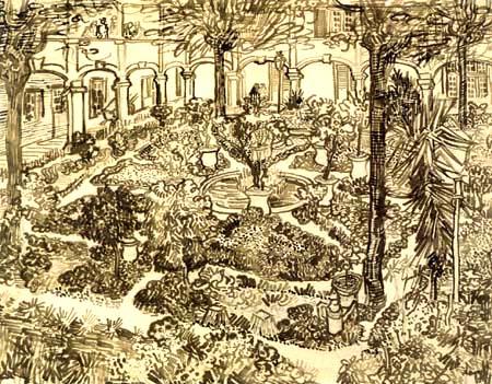 Vincent van Gogh - Le jardin de l'hôpital dans les Arles