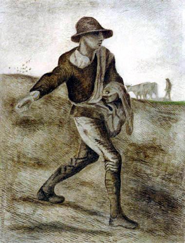 Vincent van Gogh - Der Sämann
