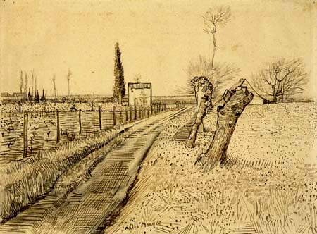 Vincent van Gogh - Landscape with road and willows