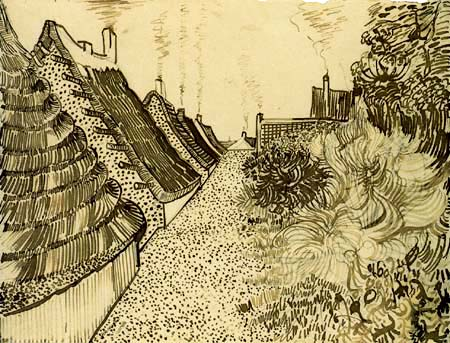 Vincent van Gogh - Maisons in Les Saintes Maries de la Mer