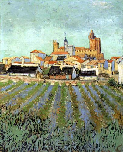 Vincent van Gogh - Ansicht von Saintes-Maries, Arles