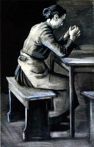 Vincent van Gogh - Praying Woman