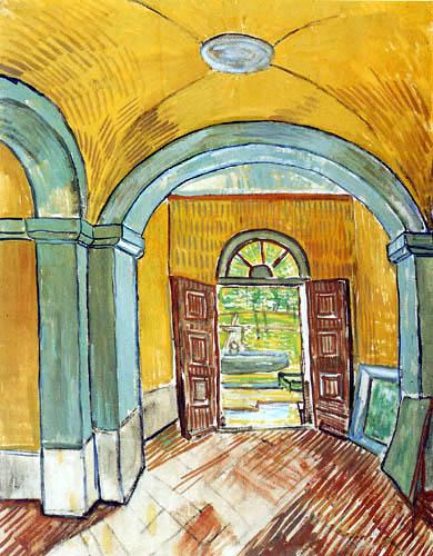 Vincent van Gogh - Porch of the hospital Saint-Rémy