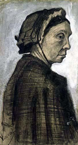 Vincent van Gogh - Kopf einer Frau