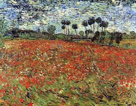 Vincent van Gogh - Mohnfeld, Auvers