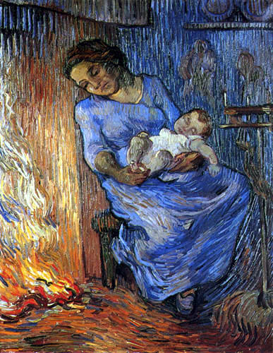 Vincent van Gogh - Mother and child on fire