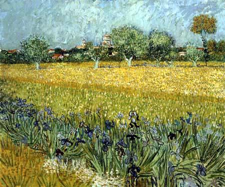 Vincent van Gogh - View of Arles with Irises