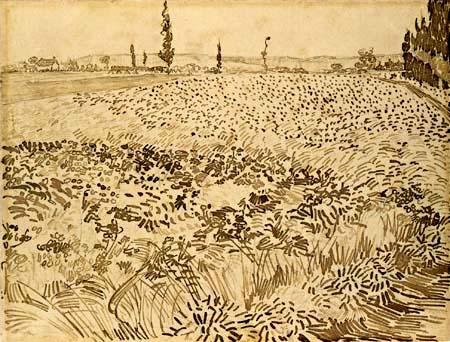 Vincent van Gogh - Blick auf Arles über die Kornfelder