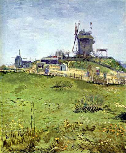 Vincent van Gogh - Die Mühle du Blute-Fin, Montmartre