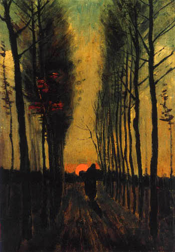 Vincent van Gogh - Poplars at sunset