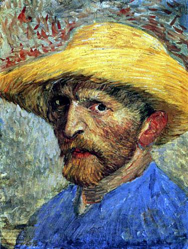 Vincent van Gogh - Selbstbildnis mit Strohhut