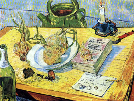 Vincent van Gogh - Still Life with a drawing board and onions