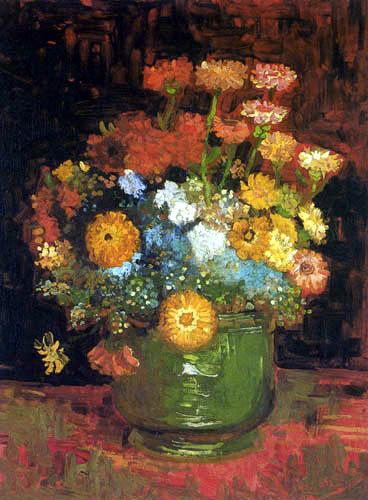 Vincent van Gogh - Vase mit Zinnien