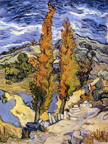 Vincent van Gogh - Zwei Pappeln