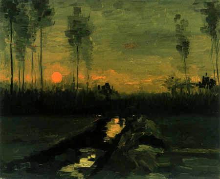 Vincent van Gogh - Landscape in the evening