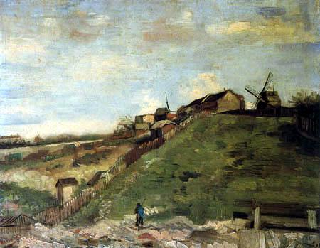 Vincent van Gogh - Montmartre mit Steinbruch und Mühlen