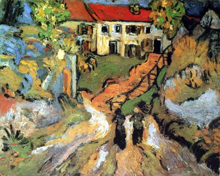 Vincent van Gogh - Treppe in Auvers