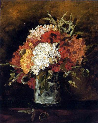 Vincent van Gogh - Vase mit Nelken