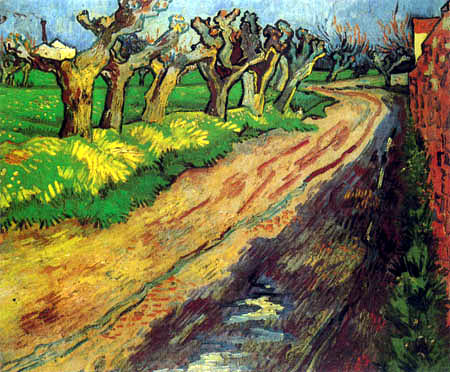 Vincent van Gogh - Way with cropped willows