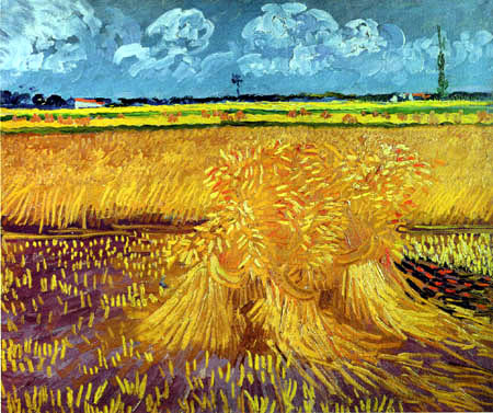 Vincent van Gogh - Wheat field with grain sheaves