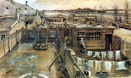 Vincent van Gogh - Carpenter shop, seen from Vincent's room