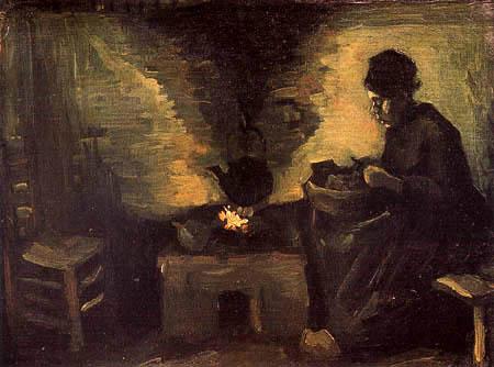 Vincent van Gogh - Bäuerin beim Kartoffelschälen