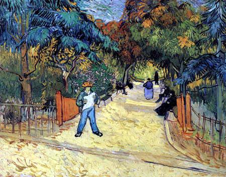 Vincent van Gogh - Entrance to the Public Gardens in Arles